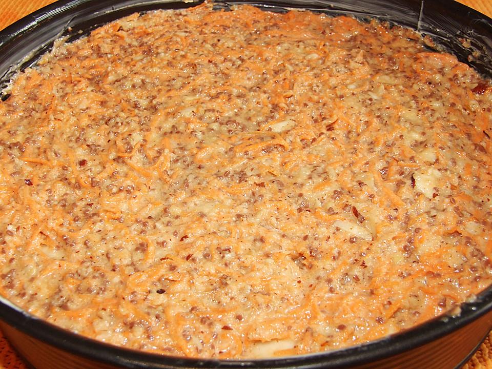 Karottenkuchen mit paran ssen und schokostreusel von for Alpina ka chen und badfarbe