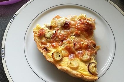 Einfache Schinken-Käse-Lauch Quiche 7