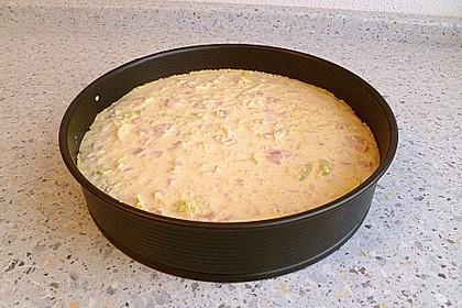 Einfache Schinken-Käse-Lauch Quiche 9