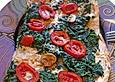 Vegetarische Spinatpizza