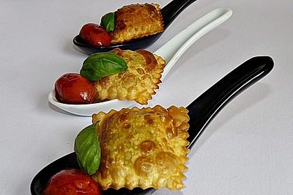 Frittierte Ravioli mit Kirschtomaten aus dem Rotweinsud 1