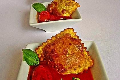 Frittierte Ravioli mit Kirschtomaten aus dem Rotweinsud 2