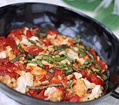 Geschmorte Tomaten alla Burrata