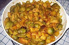 Rosenkohl-Curry mit Kartoffeln