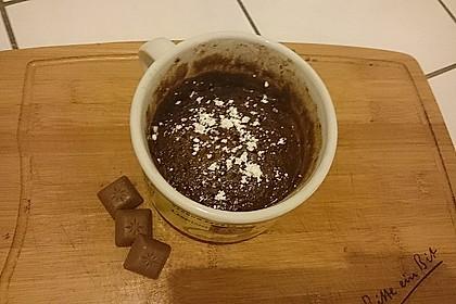Hot Brownie-Kuchen aus der Tasse 4