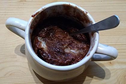 Hot Brownie-Kuchen aus der Tasse 9