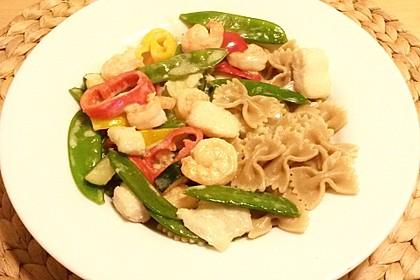 Fisch-Gemüse-Pfanne mit Kokosmilch, Low carb 32
