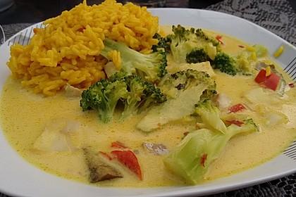 Fisch-Gemüse-Pfanne mit Kokosmilch, Low carb 20