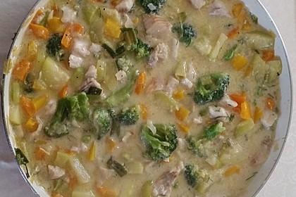 Fisch-Gemüse-Pfanne mit Kokosmilch, Low carb 51