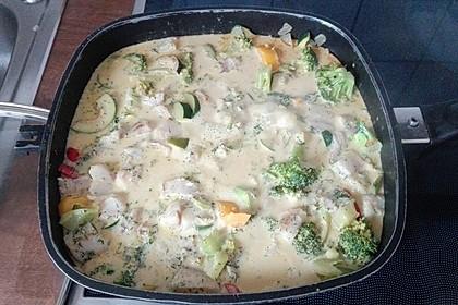Fisch-Gemüse-Pfanne mit Kokosmilch, Low carb 58