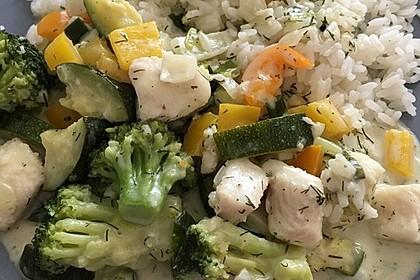 Fisch-Gemüse-Pfanne mit Kokosmilch, Low carb 33
