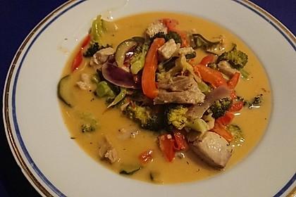Fisch-Gemüse-Pfanne mit Kokosmilch, Low carb 60