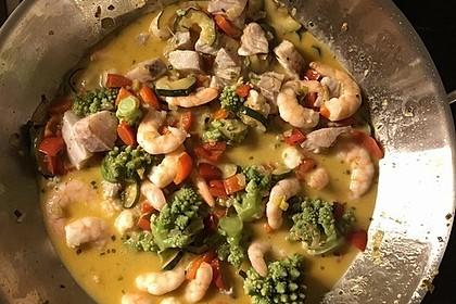 Fisch-Gemüse-Pfanne mit Kokosmilch, Low carb 55