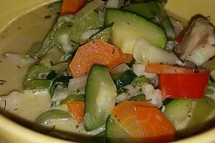 Fisch-Gemüse-Pfanne mit Kokosmilch, Low carb 40