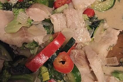 Fisch-Gemüse-Pfanne mit Kokosmilch, Low carb 56