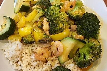 Fisch-Gemüse-Pfanne mit Kokosmilch, Low carb 22
