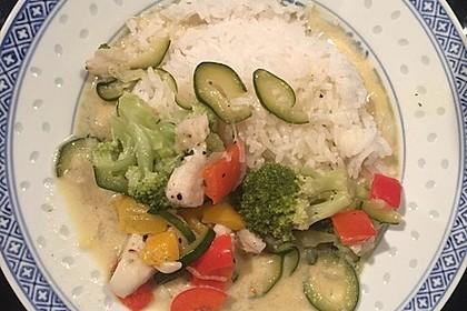Fisch-Gemüse-Pfanne mit Kokosmilch, Low carb 42