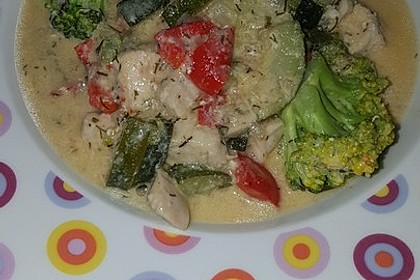 Fisch-Gemüse-Pfanne mit Kokosmilch, Low carb 65