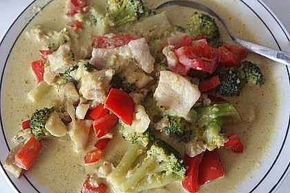 Fisch-Gemüse-Pfanne mit Kokosmilch, Low carb 38