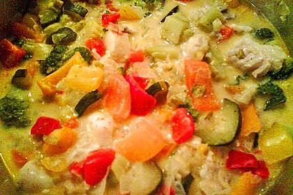 Fisch-Gemüse-Pfanne mit Kokosmilch, Low carb 37