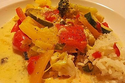 Fisch-Gemüse-Pfanne mit Kokosmilch, Low carb 34
