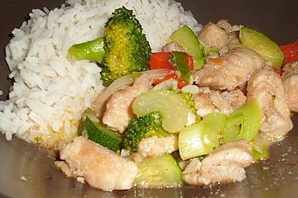 Fisch-Gemüse-Pfanne mit Kokosmilch, Low carb 10
