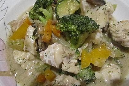 Fisch-Gemüse-Pfanne mit Kokosmilch, Low carb 41