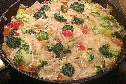 Fisch-Gemüse-Pfanne mit Kokosmilch, Low carb 25