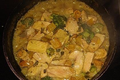 Fisch-Gemüse-Pfanne mit Kokosmilch, Low carb 45