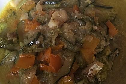 Fisch-Gemüse-Pfanne mit Kokosmilch, Low carb 53