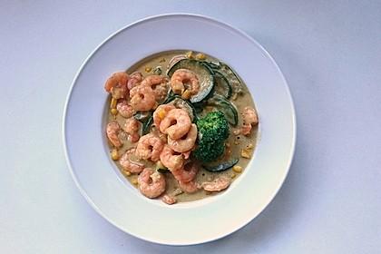Fisch-Gemüse-Pfanne mit Kokosmilch, Low carb 6