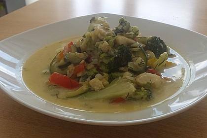 Fisch-Gemüse-Pfanne mit Kokosmilch, Low carb 39