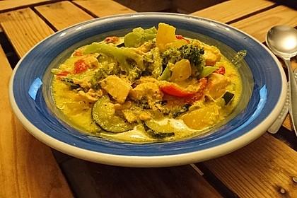 Fisch-Gemüse-Pfanne mit Kokosmilch, Low carb 24