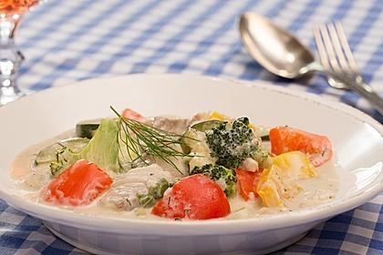 Fisch-Gemüse-Pfanne mit Kokosmilch, Low carb 3