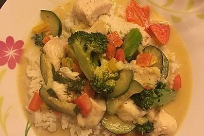 Fisch-Gemüse-Pfanne mit Kokosmilch, Low carb 18