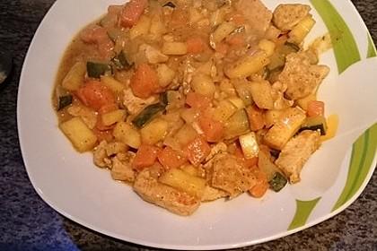 Indische Süßkartoffel-Zucchini-Hähnchen-Pfanne 6