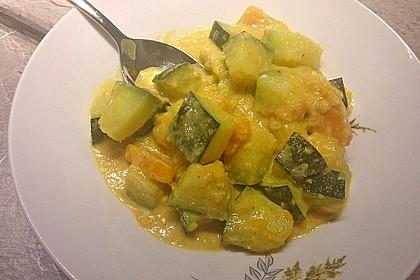 Indische Süßkartoffel-Zucchini-Hähnchen-Pfanne 4