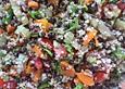 Puy Linsen-Bulgur-Salat mit frischem Spinat