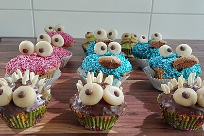 Krümelmonster Cupcakes 32