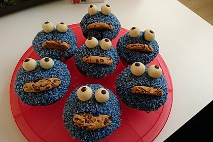 Krümelmonster Cupcakes 22