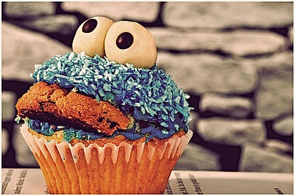 Krümelmonster Cupcakes 2