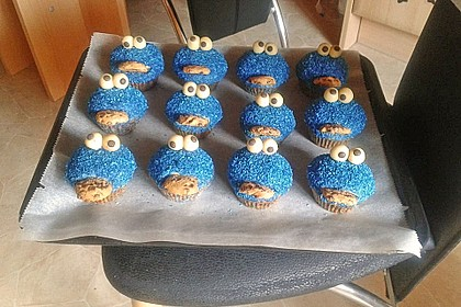 Krümelmonster Cupcakes 57