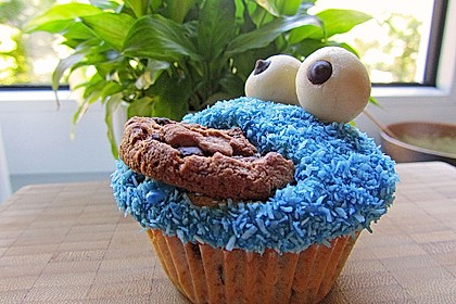 Krümelmonster Cupcakes 35
