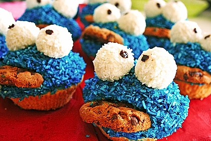 Krümelmonster Cupcakes 27