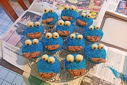 Krümelmonster Cupcakes 89