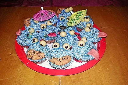 Krümelmonster Cupcakes 38