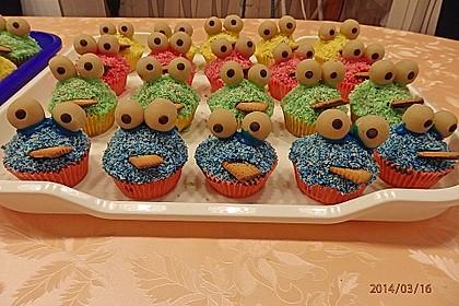 Krümelmonster Cupcakes 43