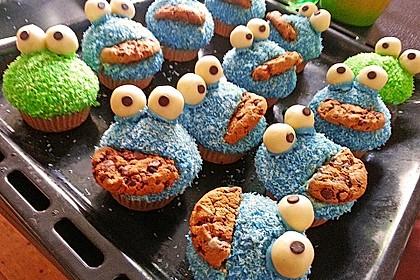 Krümelmonster Cupcakes 49