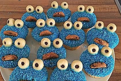 Krümelmonster Cupcakes 56
