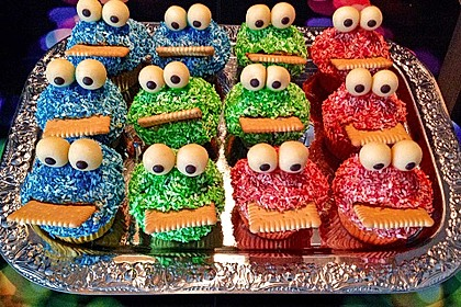 Krümelmonster Cupcakes 6